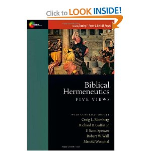 biblical hermeneutics five views