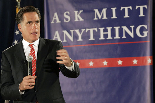 Mitt Romney Holds Town Hall Meeting